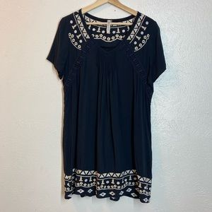 Monoreno embroidered tunic dress/ beach cover M